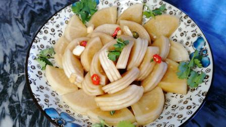 白萝卜咸菜最简单的腌法,糖醋酸萝卜爽口又开胃,比饭店的还好吃