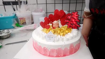 """奶奶生日,我定做'红心寿生日蛋糕"""",奶奶生日过的很开心!"""