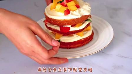 【超快手】便利店蛋糕胚化身奶油小蛋糕