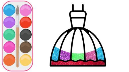 儿童手工绘画diy乐园:动手绘画彩色的公主裙!