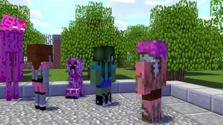 我的世界动画-怪物学院-赛跑-HappyWorm Animations