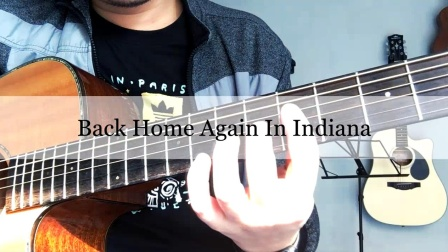 指弹吉他 Back Home Again In Indiana