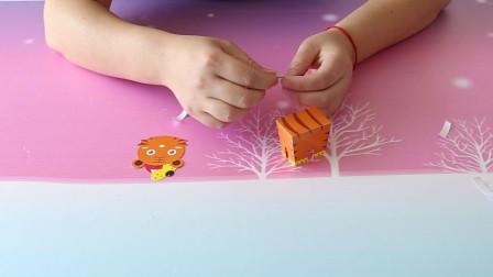 立体手工折纸小老虎,既简单又容易,大家学起来吧