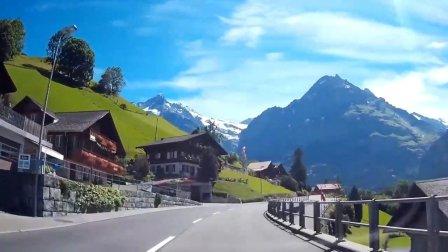 阿尔卑斯山脚下的瑞士小镇格林德瓦,这是什么人间仙境啊!