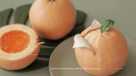 【治愈系】声控 | Cooking tree 免烤柑橘芝士蛋糕