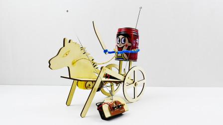 《创客G坊》原创科技小制作电动小马车,语音版安装教程