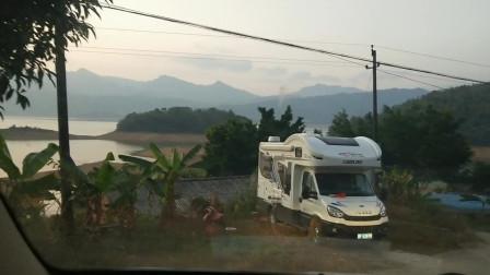 游钓之旅第一站,广西桂林青狮潭水库扎营,明天再说