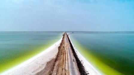 青海有一条世界上独一无二的公路:全部用天然食盐壳建成,公路上没有一寸泥土