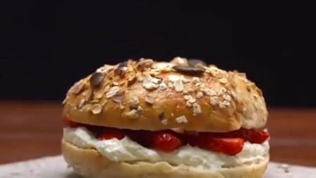 贝果面包,唯一需要水煮的面包,少糖少油,在健身减肥圈特别火