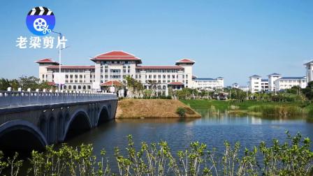 旅游海南实拍,桂林洋校区,海南师范大学校园风景,
