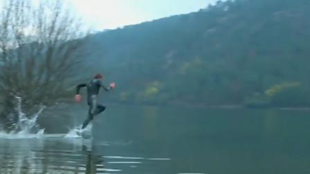 我国的轻功水上漂,却被老外偷学到了,能在水面奔跑十几米不落水
