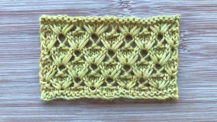 一款很有层次的菱格花样,立体大方,织围巾真漂亮最新织法编织教案
