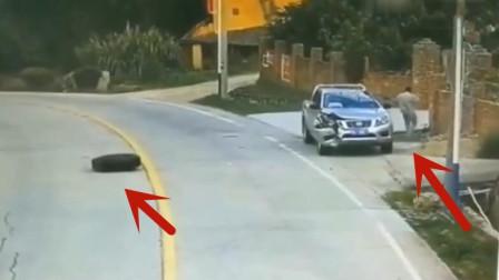 男子刚上轿车瞬间跑了下来,这真是经历生死,侥幸得活
