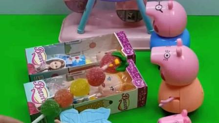 给小猪一家分芭比娃娃啦,乔治不喜欢自己的芭比娃娃,为什么呢?
