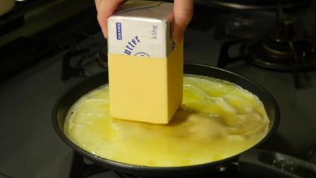 这样做的煎饼会什么味儿?抹上黄油挤上柠檬才能吃,你要尝尝吗?