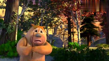 熊出没:熊二胆子太小,居然被一只小鸟吓成这,好搞笑