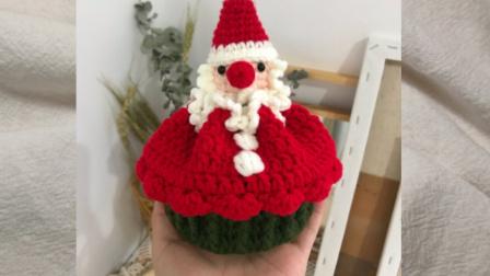 圣诞老人纸杯蛋糕包教程 年糕家手作