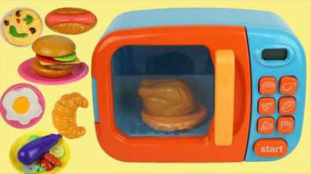 小猪佩奇和芭比娃娃微波炉玩具
