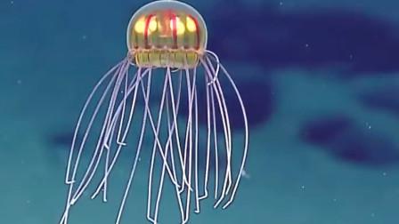 罕见发光水母 竟会发出红光和黄光形似外星太空船