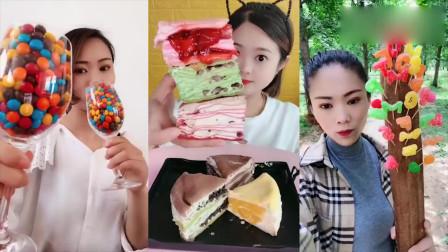 小姐姐直播吃彩色字母糖、千层蛋糕,是我小时候向往的生活