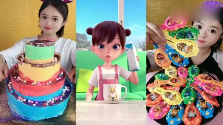 小姐姐自制爆浆蛋糕、卡通奶酪棒,看着就想吃一口