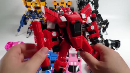 迷你特工队玩具拼装  各种变形机甲排排队