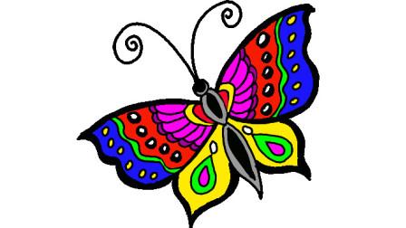 简单易学的蝴蝶简笔画 - 一步一步教你画