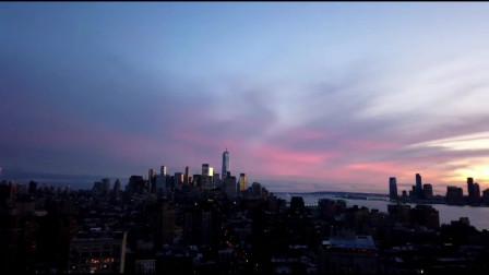 延时摄影,初冬纽约曼哈顿的黄昏