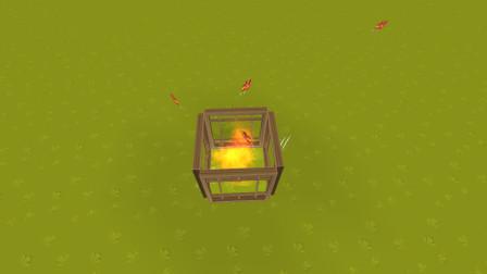 迷你世界 小型烤箱制作教程 小鸡瞬间变成烤鸡腿