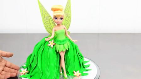 每个女孩都抗拒不了的叮当小仙女,蛋糕太美了,没人会舍得吃!