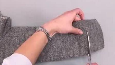 今天才知道,羊毛衫袖子太长不用拆剪改短新方法,既简单又漂亮