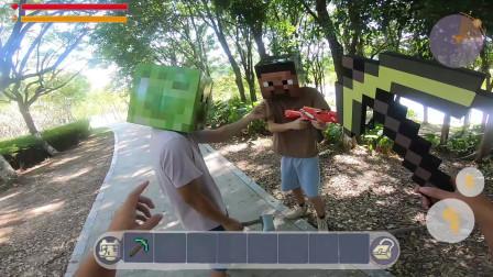 迷你世界真人版:玩家庄稼太多,招工回来竟被背叛,最后成功收服