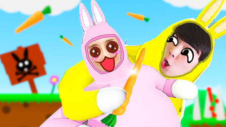 兔子兄妹 田里的机关真危险,我们坑了哥哥再抢萝卜!小熙屌德斯