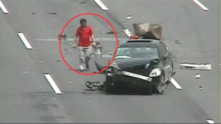 """男子高速上出车祸作死,当场被判了""""死刑""""!10秒后画面太惨"""