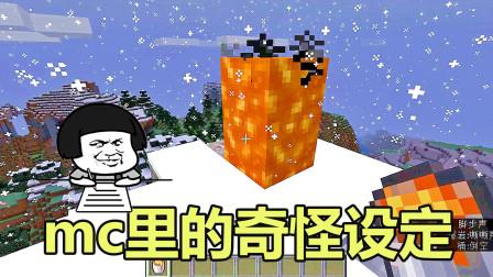 我的世界:游戏里奇怪的设定,岩浆桶可以用手拿,不喝水也能生存