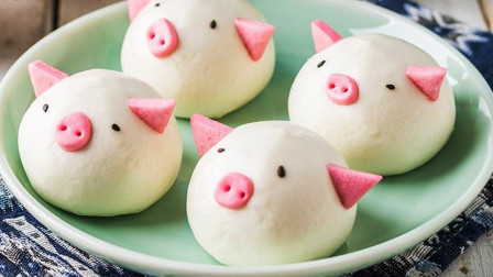 小猪馒头的详细做法,这么可爱的小猪猪,你还舍得吃吗?真香