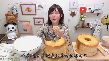 日本大胃王日常吃播,一盆奶油两个面包,真不简单!