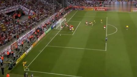 06年世界杯经典 英格兰与瑞典进球大战 乔科尔超级神仙球 杰拉德神跑位霸气头槌 拉尔森绝平