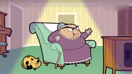 憨豆先生动画版:万圣节房东太太被憨豆吓晕倒了!
