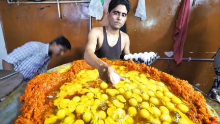 """印度人做蛋炒饭也""""开了挂"""",一份里放200个鸡蛋,看完你想尝下吗"""