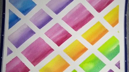 """儿童创意手工画:五颜六色的方块,像极了美味的""""奶酪""""!"""