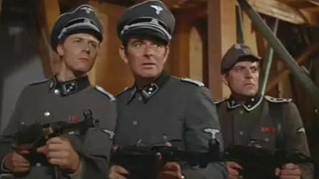二战经典战争片,伪装的美军中埋伏,在屋里遭德军袭击
