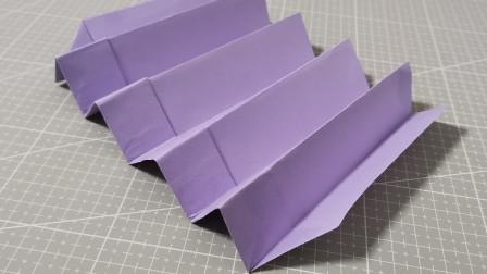 新版回旋纸片纸飞机,能自己飞回来的纸飞机,你折过吗
