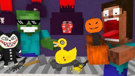 我的世界MC动画:怪物学院 在玩具店卖力工作的僵尸