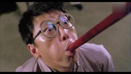 灵幻先生经典名场面,队长阿威现场口吞拐杖,全程爆笑连连!