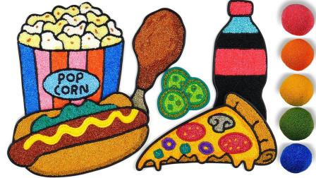 儿童趣味亲子益智雪花泥玩具:一起来制作美味的披萨、热狗还有可乐吧!