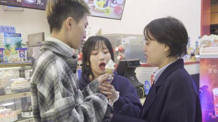 全网最穷团队,非我们莫属了,三个人抢一个冰淇淋吃