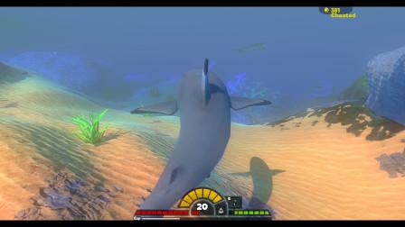 海底大猎杀:黑头鲨一个小甩头,轻松干掉虎鲨和牙巴拉鱼