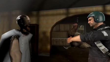 绝地求生的游戏角色进攻一个房子,差点全军覆没,幸亏有人会送礼