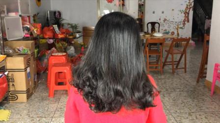 亲姑姑结婚,嫂子给她这么扎头发,亲朋好友都夸好看又大方